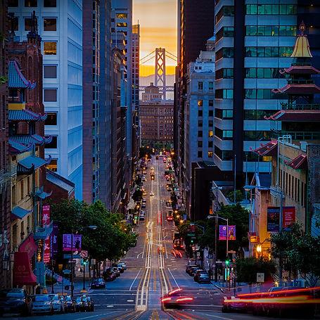 A view of California St, SF CA