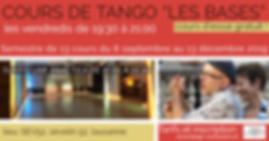 """Tango Connexion - Cours de tango """"Les Bases"""" (8/12) Suivi d'une practica de 21:00 à 22:30"""