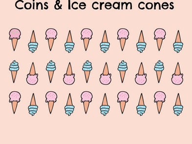 Coins and Ice Cream Cones