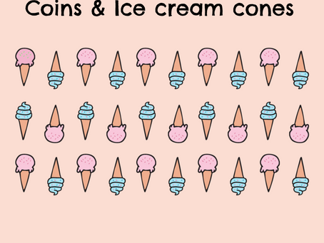 Coins and Ice Cream Cones