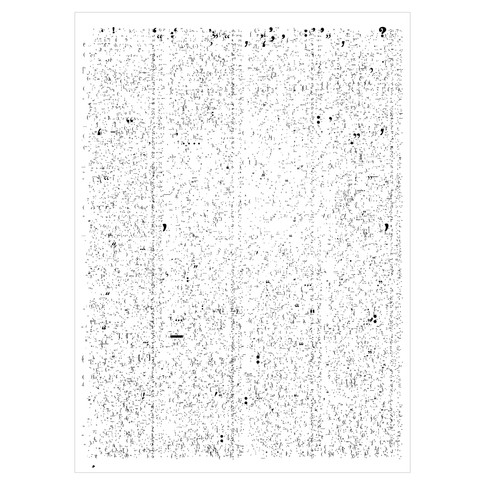 The New York Review of Books, dated May 1st 2008, contains 16,437 punctuation marks, which appear in exactly these positions.