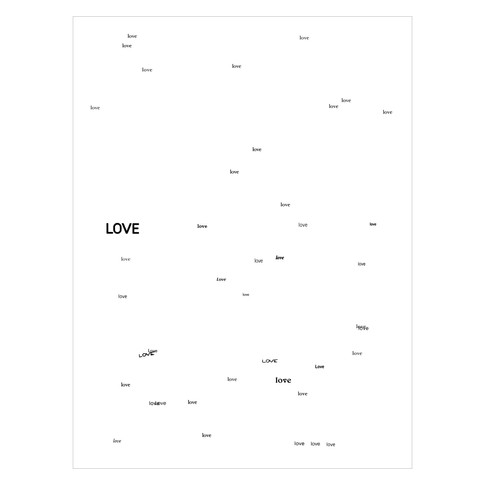 """Playboy Magazine, dated May 2008, contains 42 instances of the word """"Love"""" placed in exactly these positions."""