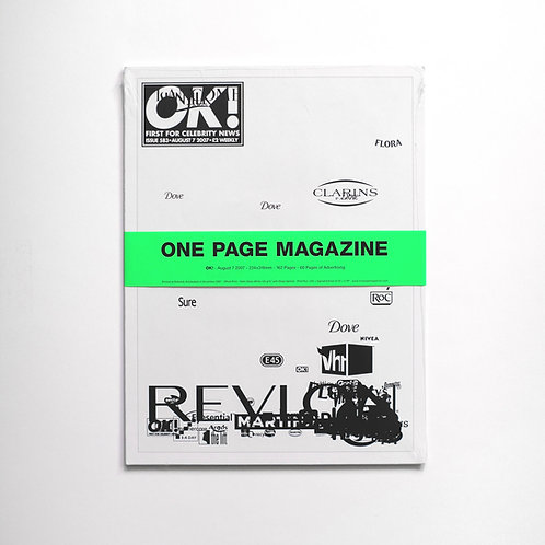 ONE PAGE MAGAZINE - OK! (Signed edition of 50)