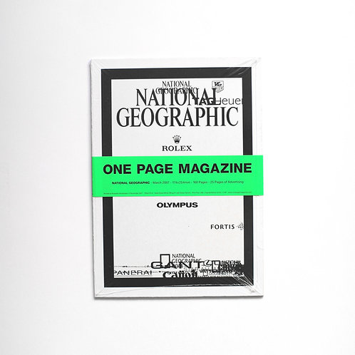 ONE PAGE MAGAZINE - NATIONAL GEOGRAPHIC (Signed edition of 50)