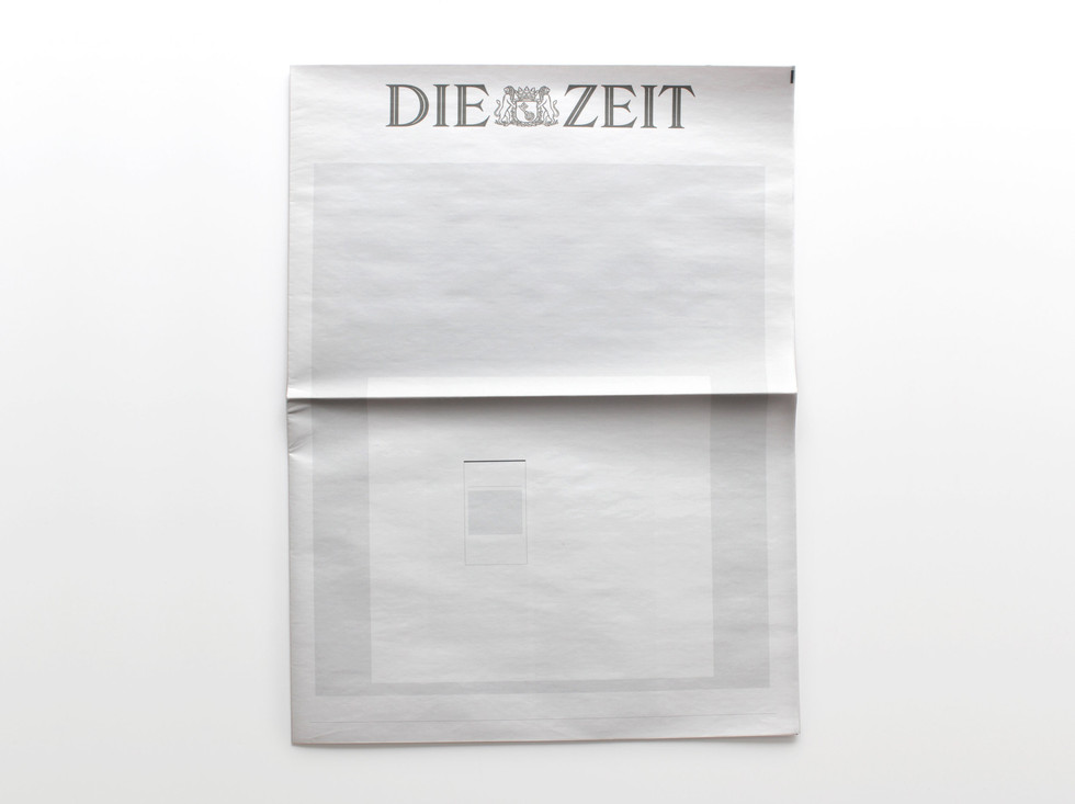 NOTHING IN DIE ZEIT: Newspapers from around the world with nothing in them.