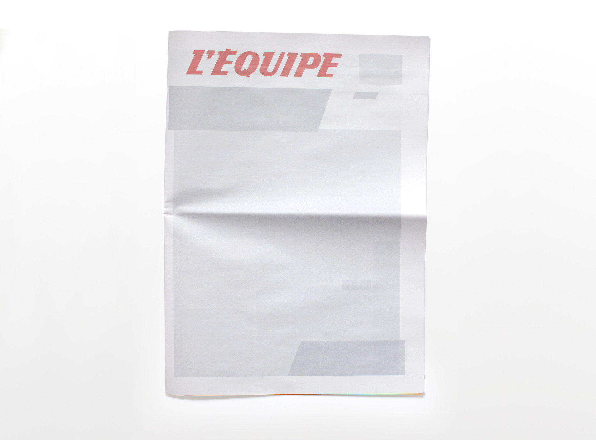 NOTHING IN L'EQUIPE: Newspapers from around the world with nothing in them.
