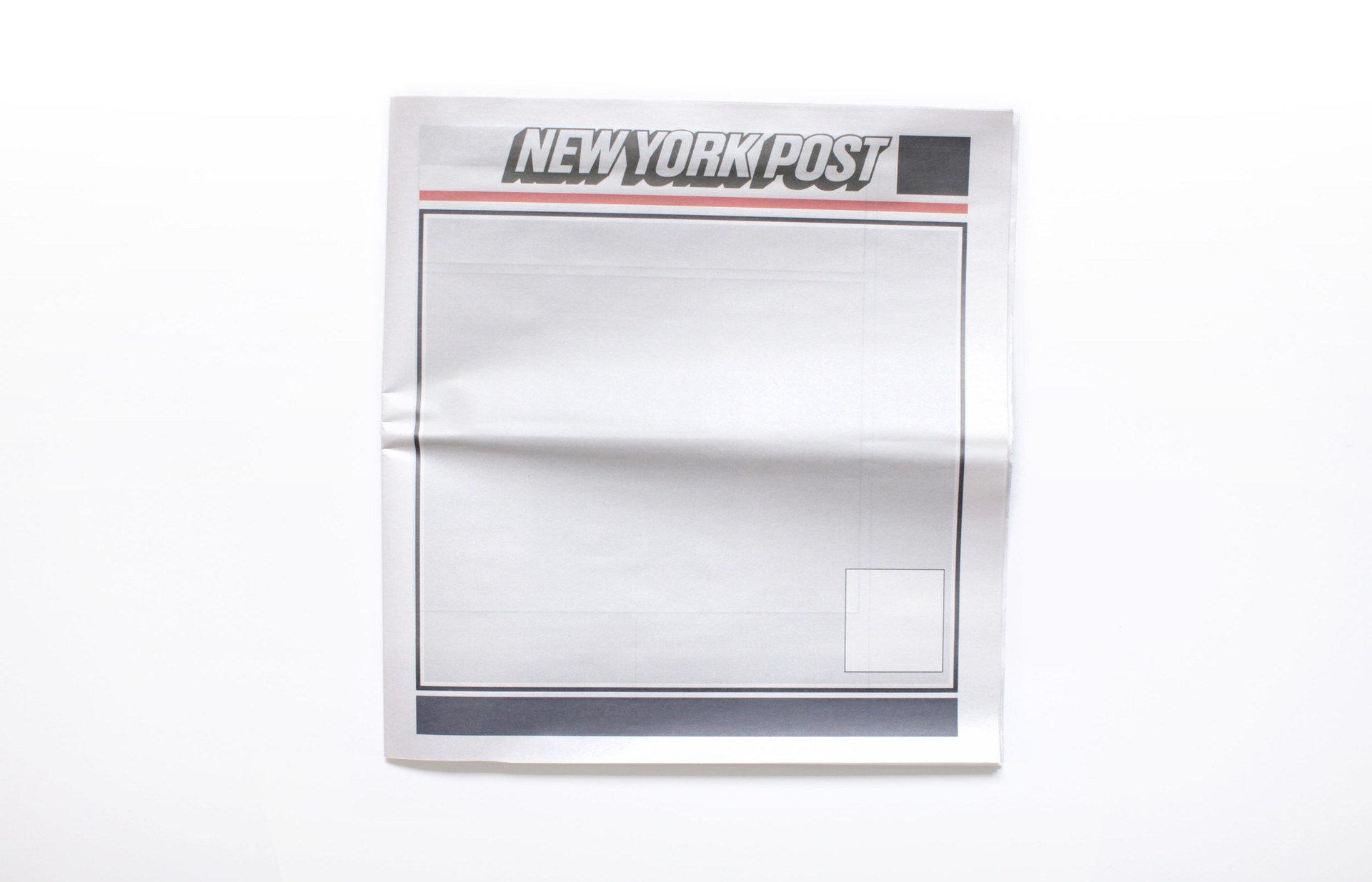NOTHING IN THE NEW YORK POST: Newspapers from around the world with nothing in them.