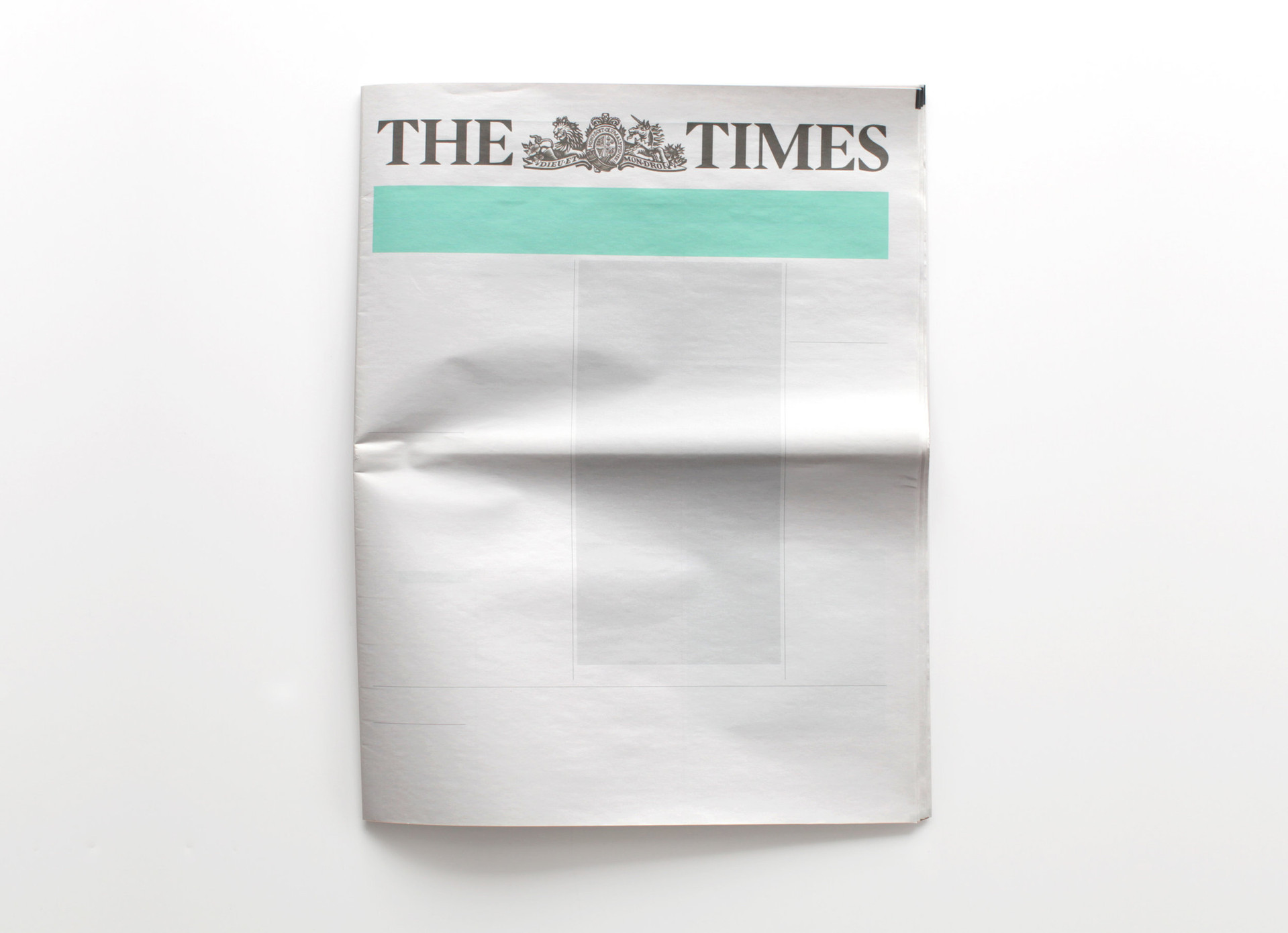 NOTHING IN THE TIMES: Newspapers from around the world with nothing in them.
