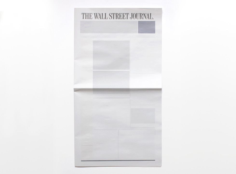 NOTHING IN THE WALL STREET JOURNAL - Newspapers from around the world with nothing in them.