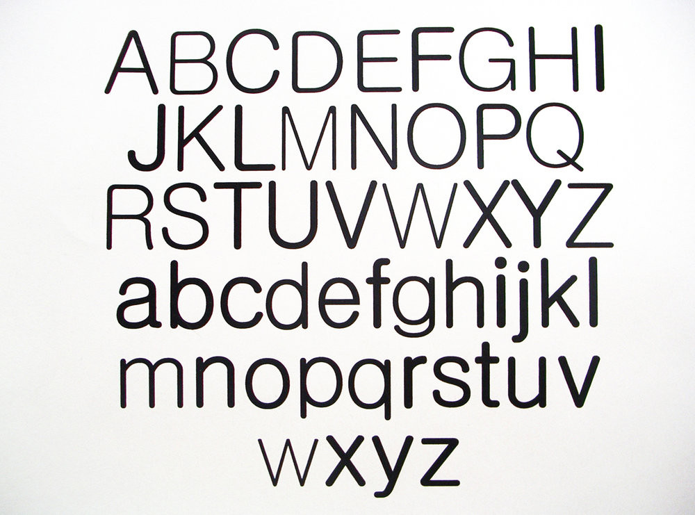 THE EQUAL TYPEFACE
