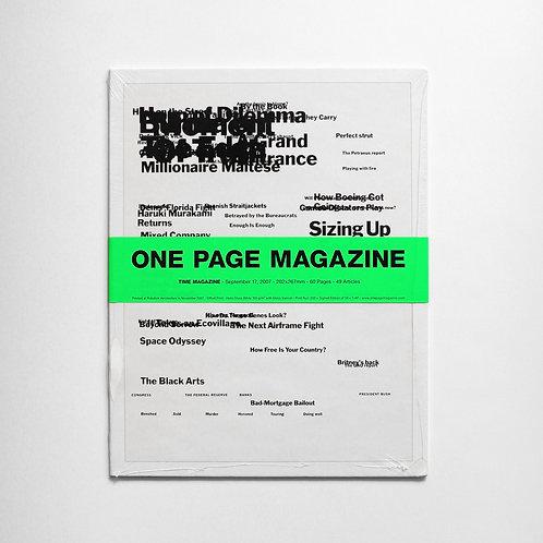 ONE PAGE MAGAZINE - TIME MAGAZINE