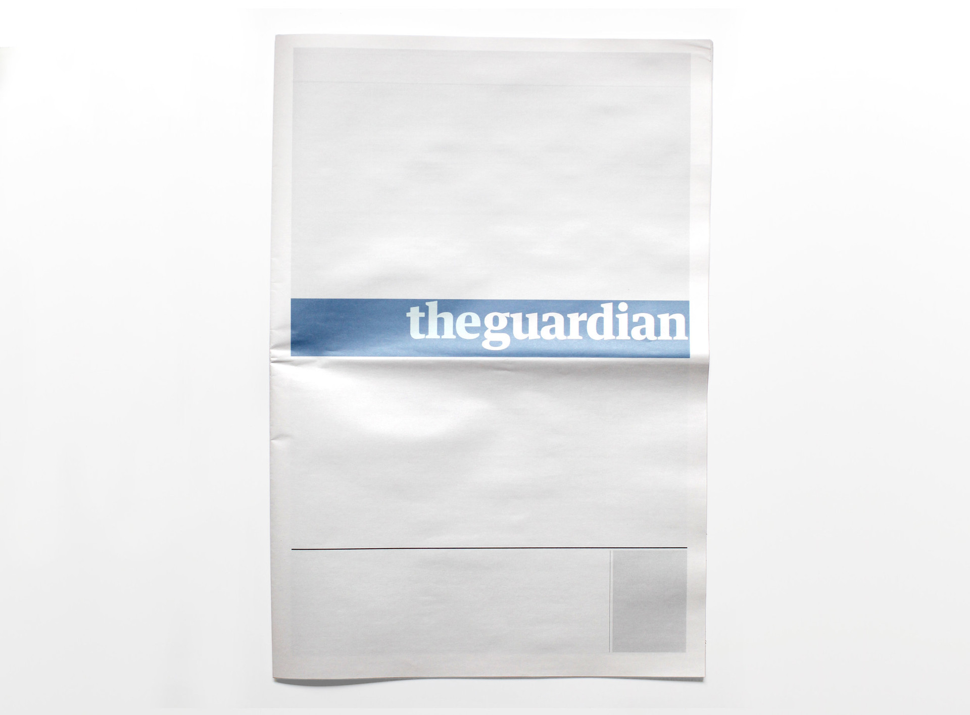 NOTHING IN THE GUARDIAN: Newspapers from around the world with nothing in them.