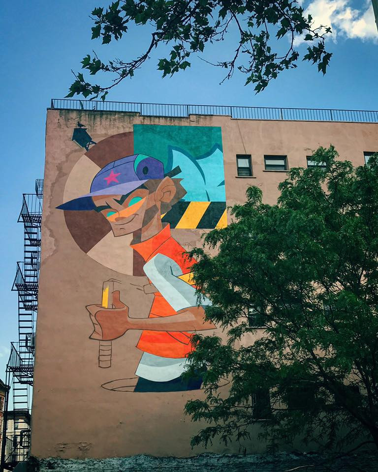 NYC/LA artist Kano painted this dope mural to commence Five Points Fest!