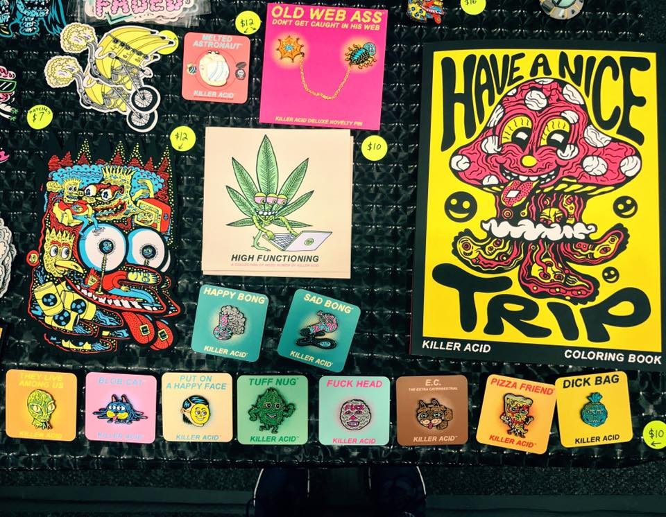 Tripped out merch by Killer Acid