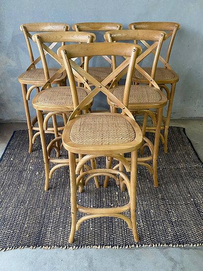 Cross back stools