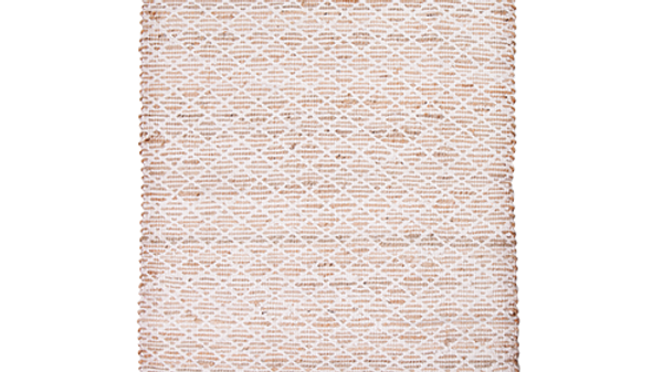 Jute rug with woven cotton