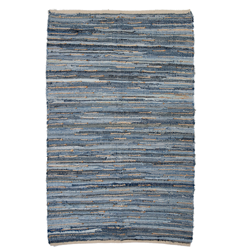Recycled denim and woven Jute Rug