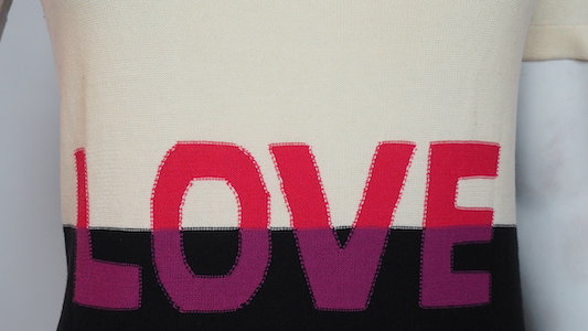 Sonia Rykiel LOVE knitted tee shirt