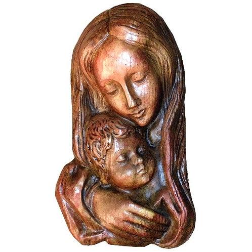 Vierge à l'enfant murale