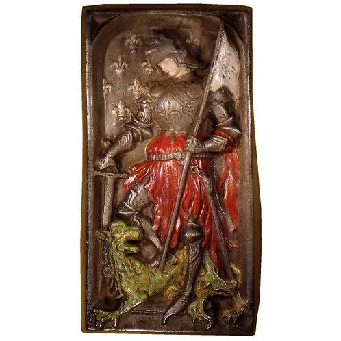 Bas relief Jeanne d'Arc