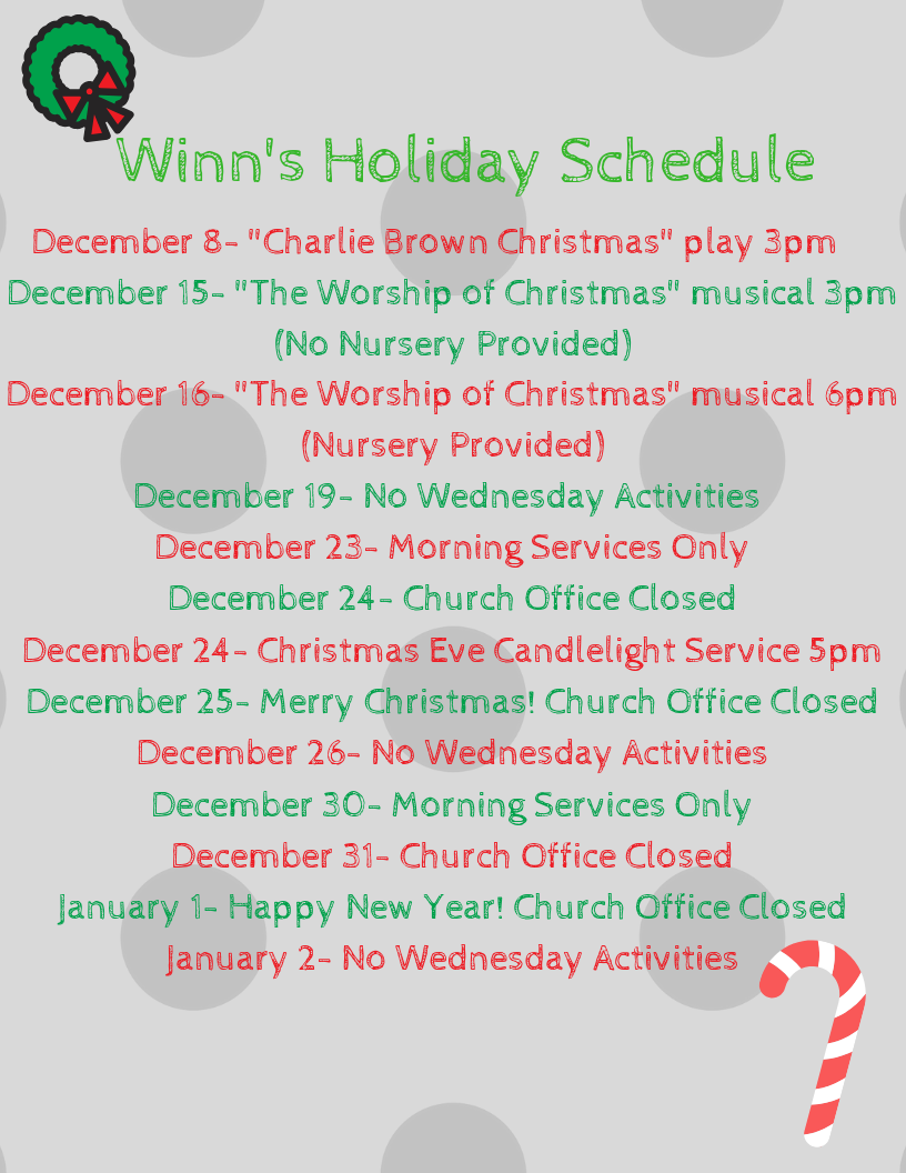Winn's Christmas Services Schedule (1).p
