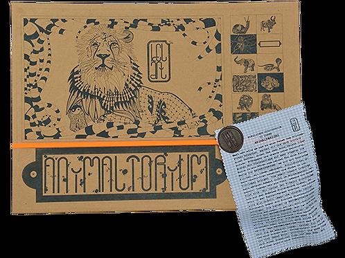 "Animaltorium, Ausmalbuch, ""Christoph"", Verpackung Orange/Braun/Hellblau"