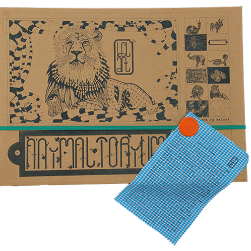 """Animaltorium, Ausmalbuch, """"Nancy"""", Verpackung Grün/Orange/Blau"""