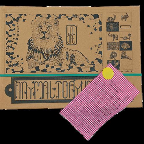 """Animaltorium, Ausmalbuch, """"Bob"""", Verpackung Grün/Gelb/Pink"""