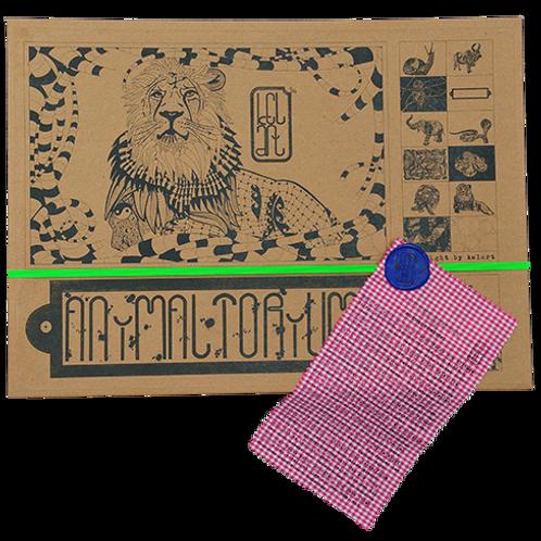 """Animaltorium, Ausmalbuch, """"Marvin"""", Verpackung Neongrün/Blau/Pink"""