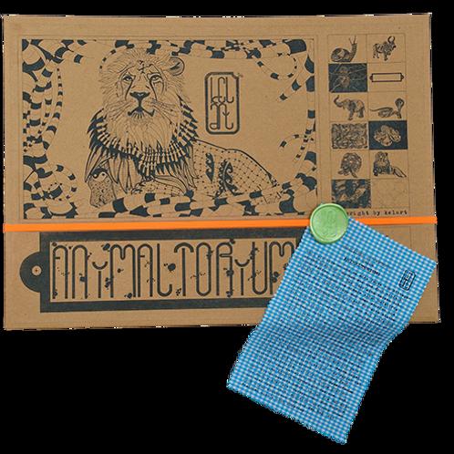 """Animaltorium, Ausmalbuch, """"Tanha"""", Verpackung Neonorange/Grün/Blau"""