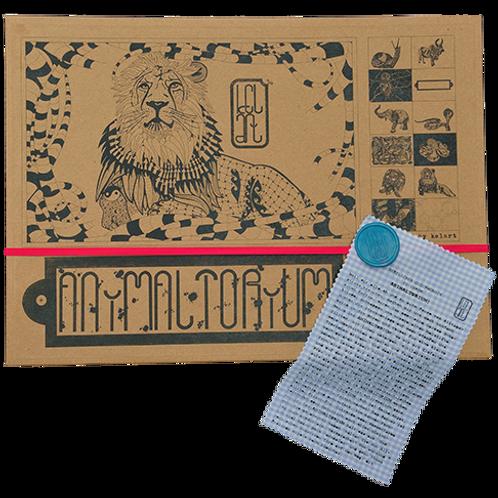 """Animaltorium, Ausmalbuch, """"Julie"""", Verpackung Pink/Türkis/Blau"""