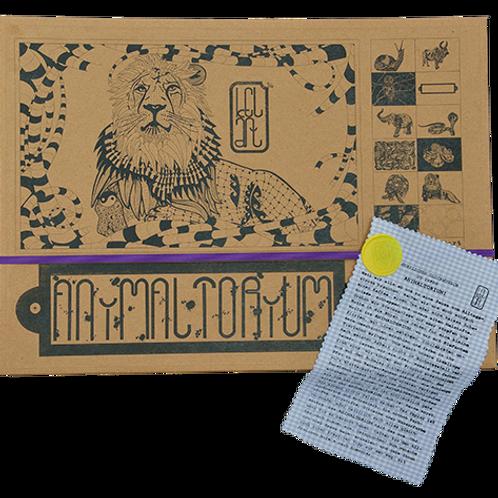"""Animaltorium, Ausmalbuch, """"Sandro"""", Verpackung Lila/Gelb/Hellblau"""