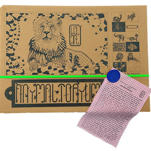 "Animaltorium, Ausmalbuch, ""Emma"", Verpackung Neongrün/Blau/Rosa"