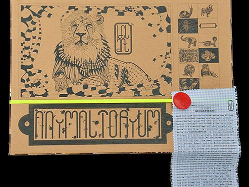 """Animaltorium, Ausmalbuch, """"Sofie"""", Verpackung Neongelb/Rot/Hellblau"""