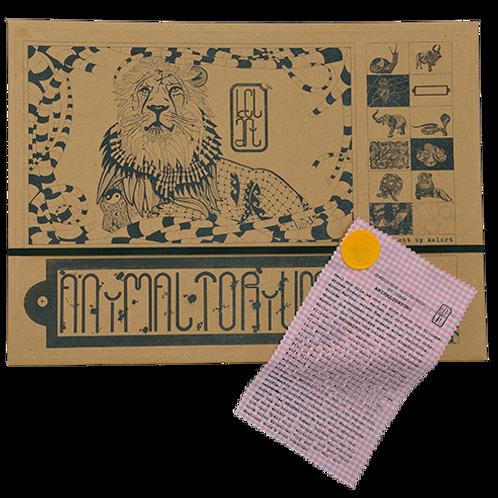 """Animaltorium, Ausmalbuch, """"Cécile"""", Verpackung Dunkel/Gelb/Rosa"""