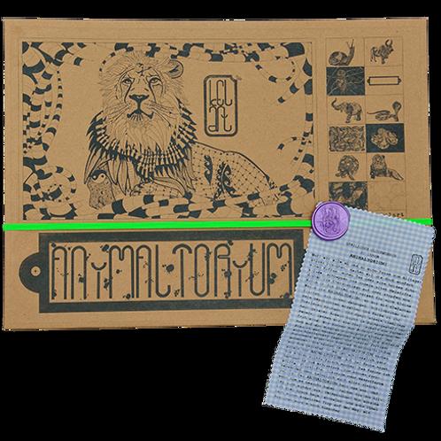 "Animaltorium, Ausmalbuch, ""Maritza"", Verpackung Neongrün/Lila/Hellblau"