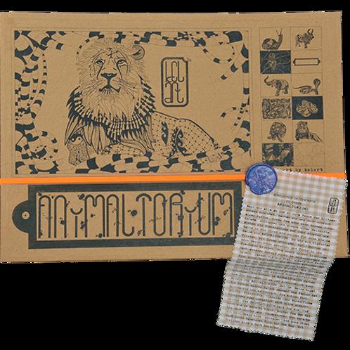"""Animaltorium, Ausmalbuch, """"George"""", Verpackung Orange/Blau/Braun"""