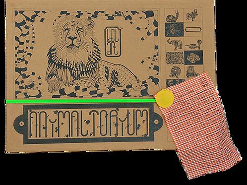 """Animaltorium, Ausmalbuch, """"Paula"""", Verpackung Neongrün/Gelb/Orange"""