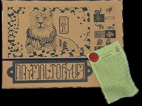 "Animaltorium, Ausmalbuch, ""Alexandra"", Verpackung Dunkelblau/Rot/Hellgrün"