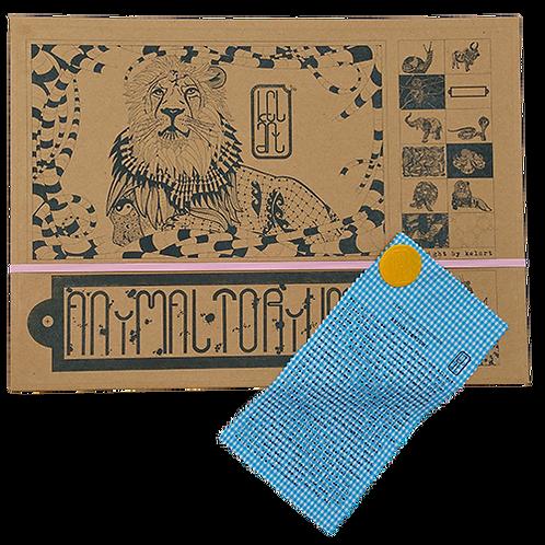 """Animaltorium, Ausmalbuch, """"Barbara"""", Verpackung Rosa/Gelb/Blau"""