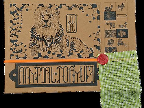 """Animaltorium, Ausmalbuch, """"Giorge"""", Verpackung Orange/Rot/Grün"""