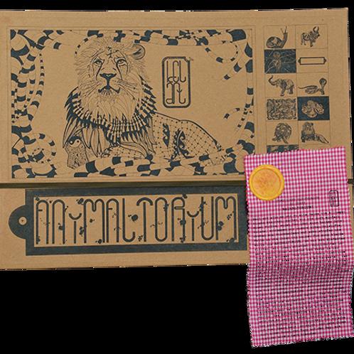 """Animaltorium, Ausmalbuch, """"Enya"""", Verpackung Olive/Gelb/Pink"""