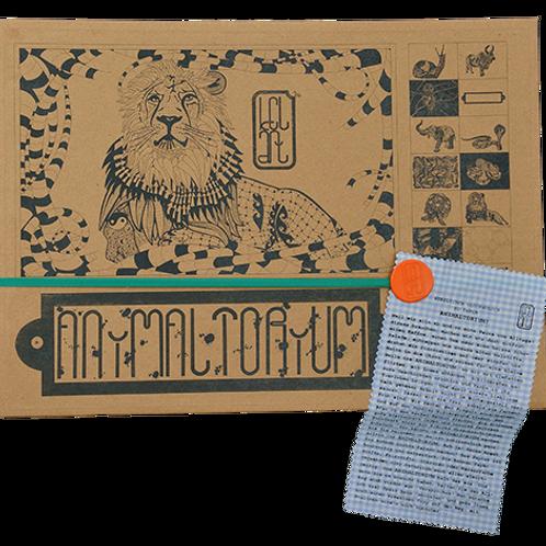 """Animaltorium, Ausmalbuch, """"Aurora"""", Verpackung Grün/Orange/Hellblau"""