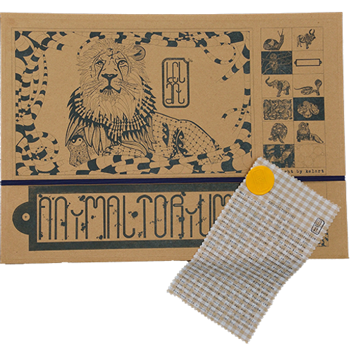 "Animaltorium, Ausmalbuch, ""Andi"", Verpackung Dunkel/Gelb/Hellbraun"