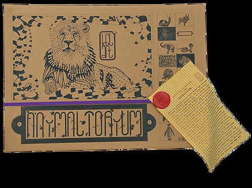 """Animaltorium, Ausmalbuch, """"Thise"""", Verpackung Lila/Rot/Gelb"""