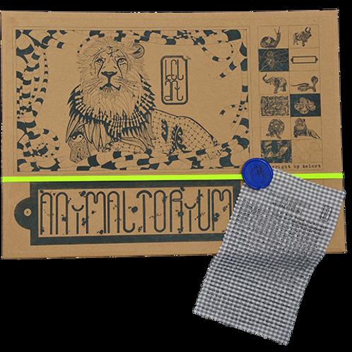 """Animaltorium, Ausmalbuch, """"Thomas"""", Verpackung Neongelb/Blau/Braun"""