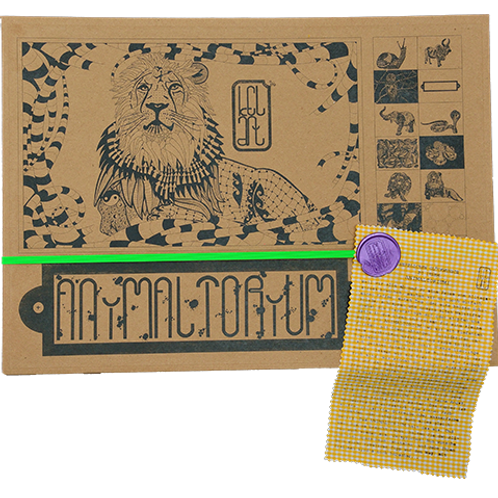 "Animaltorium, Ausmalbuch, ""Gracie"", Verpackung Neongrün/Lila/Gelb"