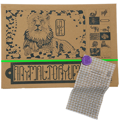 "Animaltorium, Ausmalbuch, ""Hannah"", Verpackung Neongrün/Lila/Hellbraun"