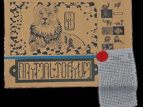 """Animaltorium, Ausmalbuch, """"Victoria"""", Verpackung Blau/Rot/Braun"""