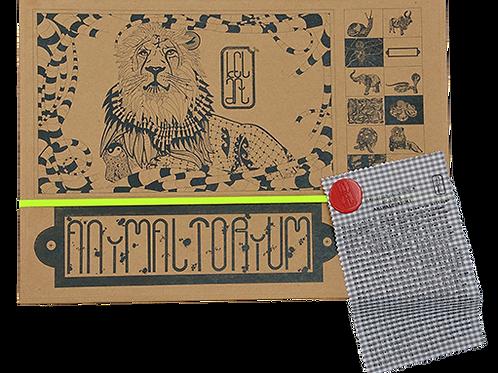 "Animaltorium, Ausmalbuch, ""Deny"", Verpackung Neongelb/Rot/Braun"